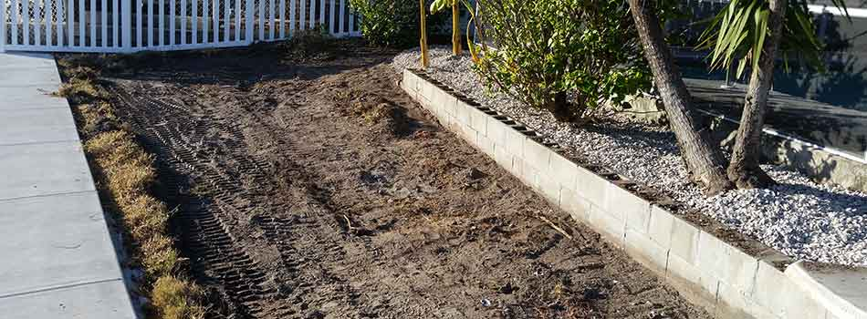 Land leveling and grading can be an important part of landscape installation, as it was for this Brooksville, FL property.