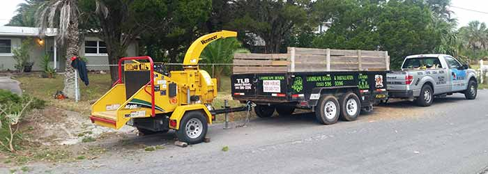 TLB Landscaping taking care of a tree trimming project in Spring Hill, FL.